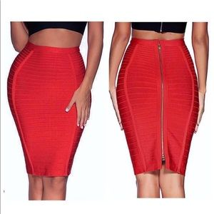 Pencil Skirt- Sexy Zipper in the Back